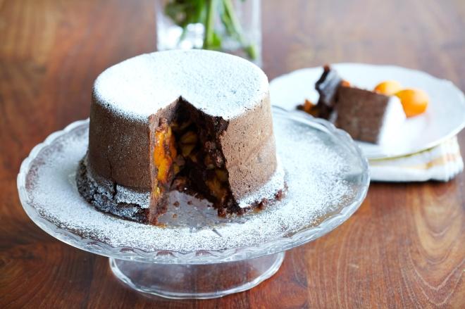 Parjen čokoladno kumkvatov kolač