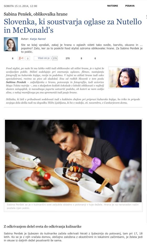 Slovenka, ki soustvarja oglase za Nutello in McDonald's | Kulina