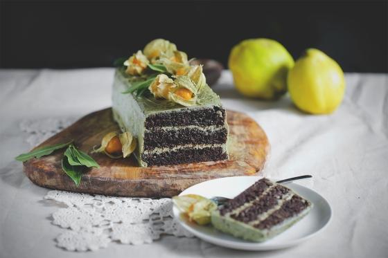 Chocolate_matcha_cake_torta