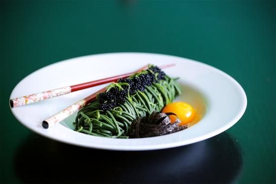 Spirulina_spaghetti_food_styling_spageti_caviar